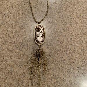 Kendra Scott Rayne necklace in filigree gold